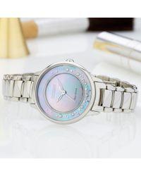 Citizen Metallic Em0380-81n Women's Circle Of Time Stainless Steel Bracelet Strap Watch