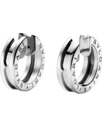 BVLGARI | Metallic B.zero1 18kt White-gold Earrings | Lyst