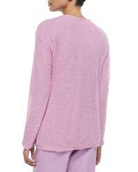 Shamask - Purple Alpaca Long-sleeve Sweater - Lyst