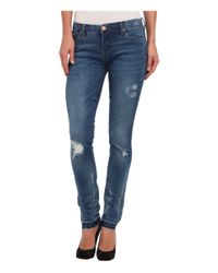 Blank - Blue Skinny Classique W/ Released Hem And Rips In Frenemy - Lyst