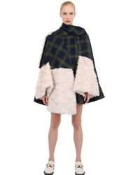 Awake Multicolor Cape with Mohair Lining