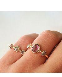 Melissa Joy Manning | Metallic Sapphire And Diamond Triple Stone Ring | Lyst