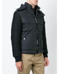 Hogan - Black Hooded Padded Jacket for Men - Lyst