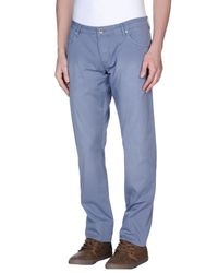 Guess Blue Casual Trouser for men