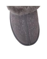 UGG Gray Moraene Constellation Fur Lined Slippers