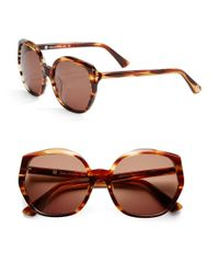 House of Harlow 1960 | Brown Donnie 56mm Round Sunglasses | Lyst