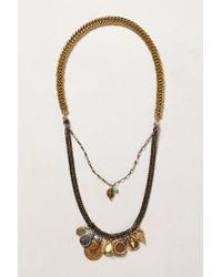 Anthropologie - Green Ciel Necklace - Lyst