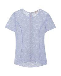 Nina Ricci - Blue Stretch-lace Top - Lyst