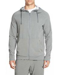 Nike Gray Dri-fit Touch Fleece Full Zip Hoodie for men
