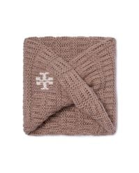 Tory Burch | Brown Whipstitch-t Infinity Scarf | Lyst