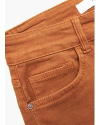 Mango - Brown Skinny Cotton Trousers - Lyst