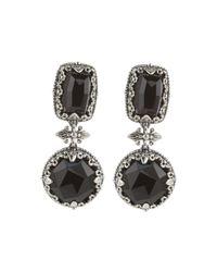 Konstantino | Black Silver Multi-shape Onyx Drop Earrings | Lyst