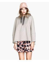 H&M Gray A-Line Sweatshirt