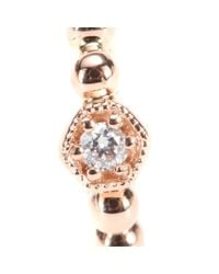 Stone Pink Tiny Hoop Charmante 18kt Rose Gold And Diamond Earring