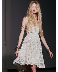 Free People Natural Womens Mavi Lace Dress