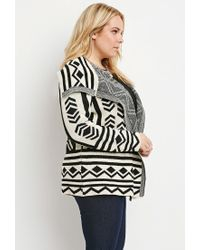 Forever 21 | Natural Plus Size Geo-patterned Cardigan | Lyst