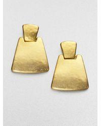 Kenneth Jay Lane | Metallic Geometric Drop Earrings | Lyst