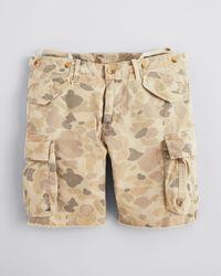 GANT Natural Chopped Off Camo Cargo Shorts for men
