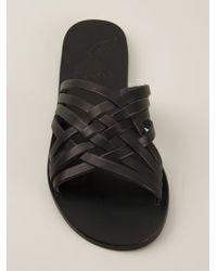 Ancient Greek Sandals - Black Crisscross Woven Sandals - Lyst