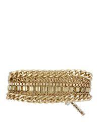 Kenneth Cole - Metallic Goldtone Multichain Stretch Bracelet for Men - Lyst