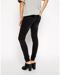Just female low waist skinny jeans with patches