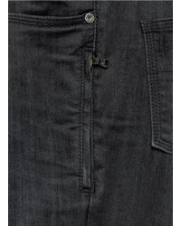 Neil Barrett - Gray Faux Leather Knee Patch Skinny Jeans for Men - Lyst