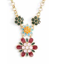 kate spade new york - Metallic 'bold Blooms' Pendant Necklace - Multi/ Gold - Lyst