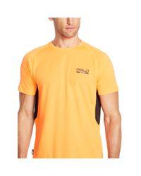 Ralph Lauren | Orange Micro-dot Jersey T-shirt for Men | Lyst