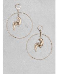 & Other Stories | Metallic Loop Parrot Earrings | Lyst