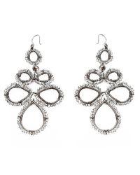 Nakamol | Metallic Corona Earrings-(large)smokey Quartz | Lyst