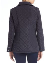 Calvin Klein | Blue Fitted Quilted Jacket | Lyst