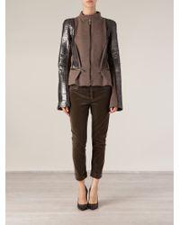Haider Ackermann Brown Python Sleeve Jacket