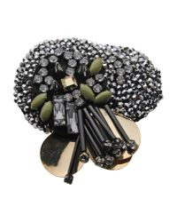 Schumacher | Black Brooch | Lyst