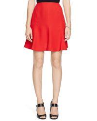 Ralph Lauren Red Lauren Crepe Flare Skirt