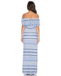 Ella Moss - Blue Cortez Maxi Dress - Lyst