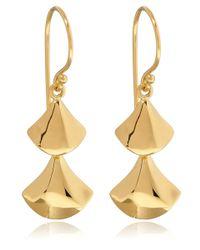 Dinny Hall - Metallic Gold Vermeil Naga Double Drop Earrings - Lyst