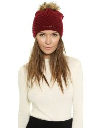 Inverni - Purple Long Wool Cashmere Hat - Lyst