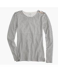 J.Crew - Blue Long-sleeve Striped Painter T-shirt - Lyst