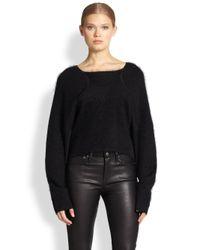Helmut Lang - Black Mohair/Silk Compact Interlock Oversized Sweater - Lyst