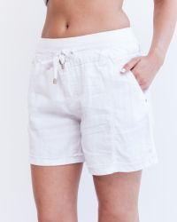 Marrakech | White Palmdale Linen Short | Lyst