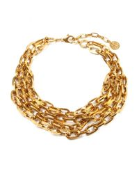 Ben-Amun | Metallic Foiled Gold Chain Necklace | Lyst