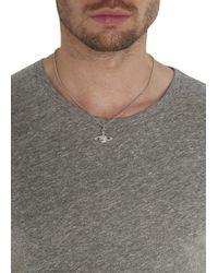 Vivienne Westwood | Metallic Mini Bas Relief Swarovski Orb Necklace for Men | Lyst