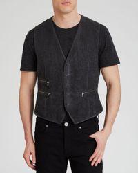 John Varvatos Gray Star Usa Five Button Vest for men
