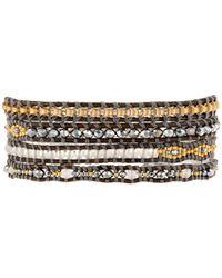 Chan Luu | Brown 32' Grey Mix Wrap Bracelet | Lyst