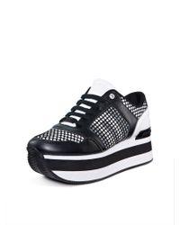 DKNY - Black Jill Platform Sneaker - Lyst