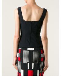 Alexander McQueen Black Sweetheart Fitted Vest