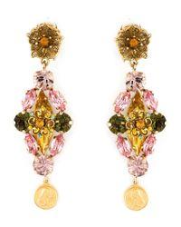 Dolce & Gabbana | Multicolor Clipon Earrings | Lyst