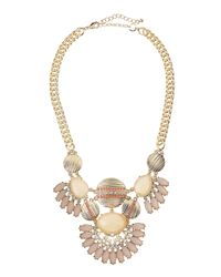 Lydell NYC | Metallic Tiered Crystal Ray Bib Necklace | Lyst