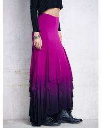 Free People | Purple Womens Fp X Venus Ruffle Maxi | Lyst