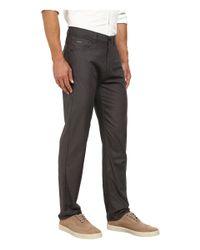 Calvin Klein | Gray Slub Twill Five-pocket Pants for Men | Lyst